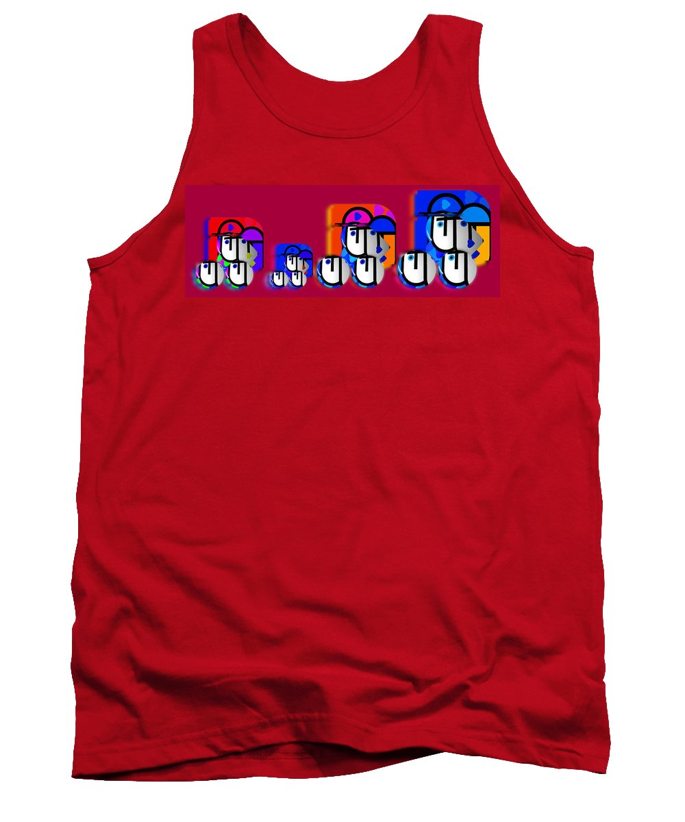 Urban Tank Top featuring the painting Outback Convoy by Charles Stuart