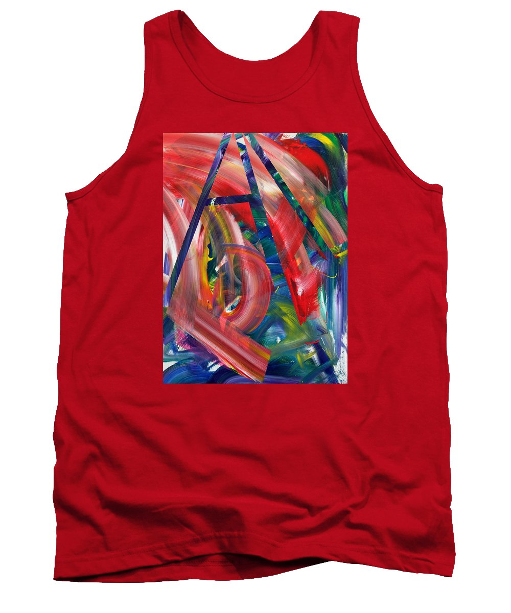 Abstract Tank Top featuring the painting Pacific Edge by Richard Day