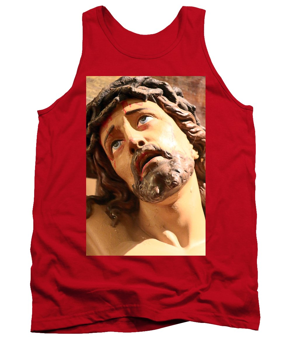 Jesus Tank Top featuring the photograph Pain by Munir Alawi