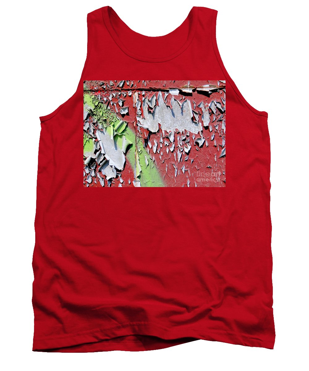 Abstract Tank Top featuring the photograph Paint Abstract by Ed Weidman