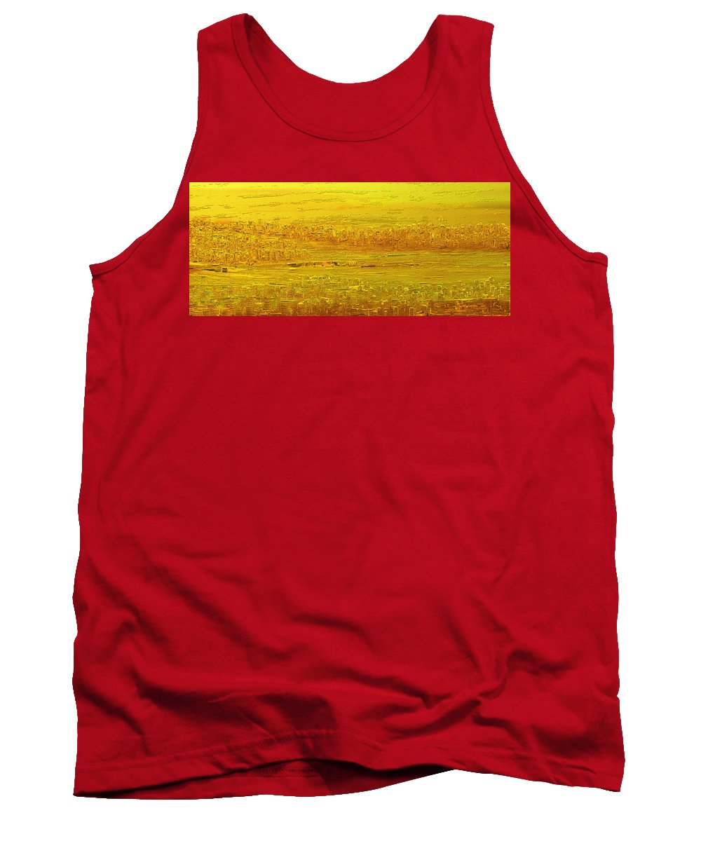 Scenic Tank Top featuring the painting Panorama 2 by Rabi Khan