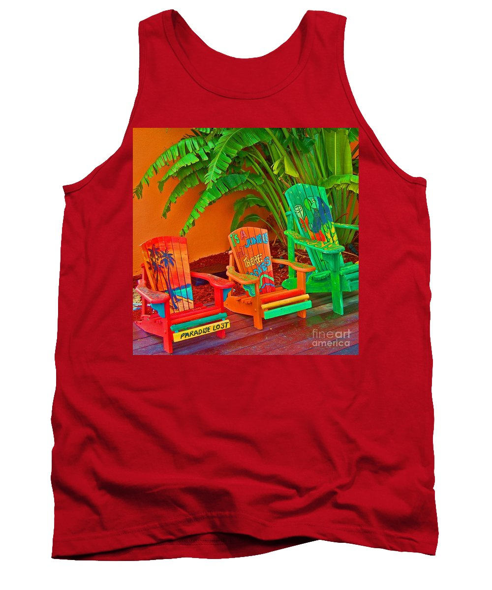 Chairs Tank Top featuring the photograph Paradise Lost by Debbi Granruth