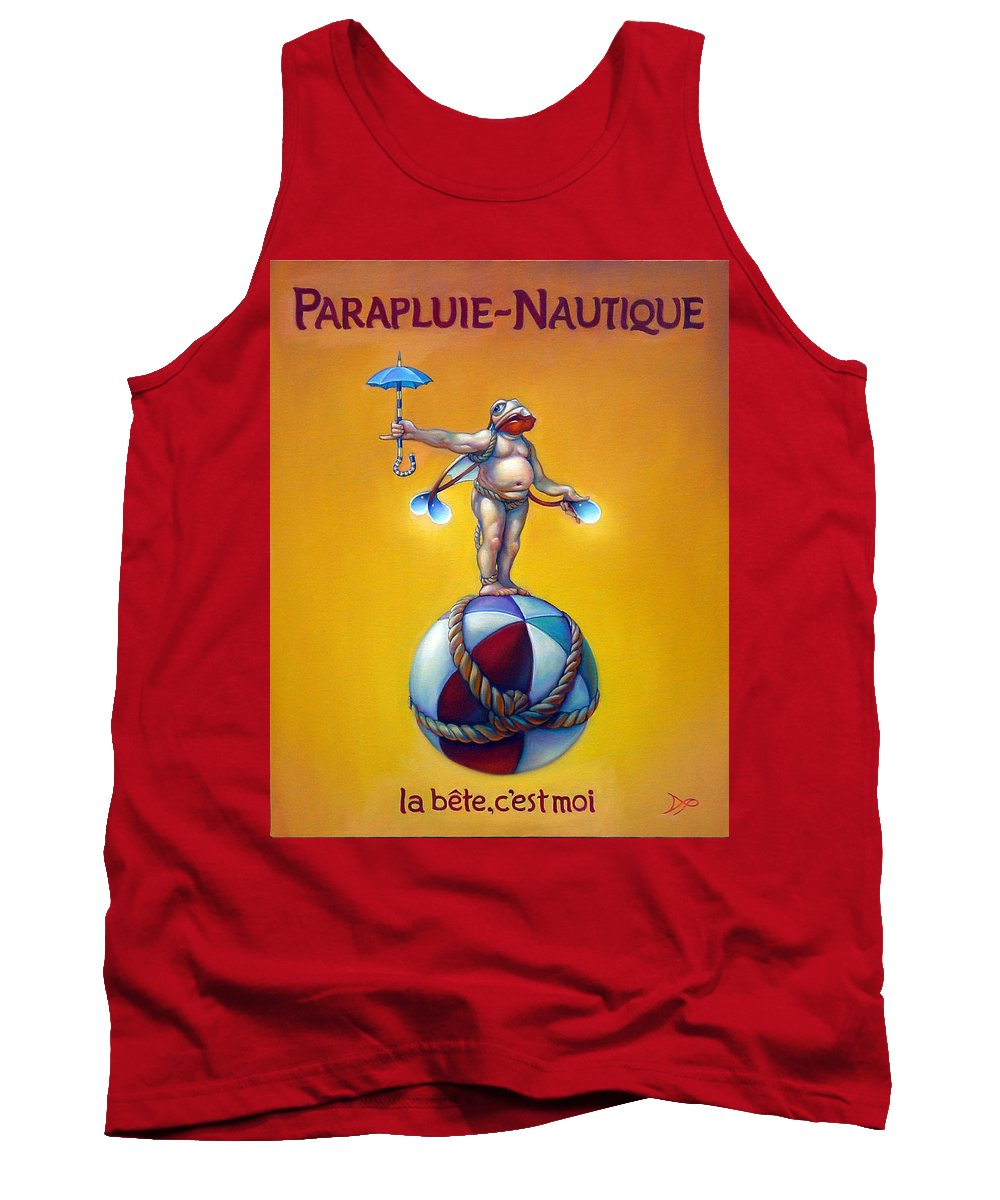 Beach Tank Top featuring the painting Parapluie Nautique by Patrick Anthony Pierson
