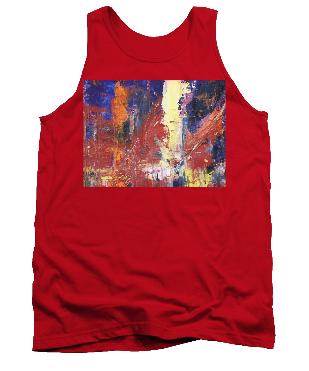 Abstract Tank Top featuring the painting Paris After The Rain by Lord Frederick Lyle Morris