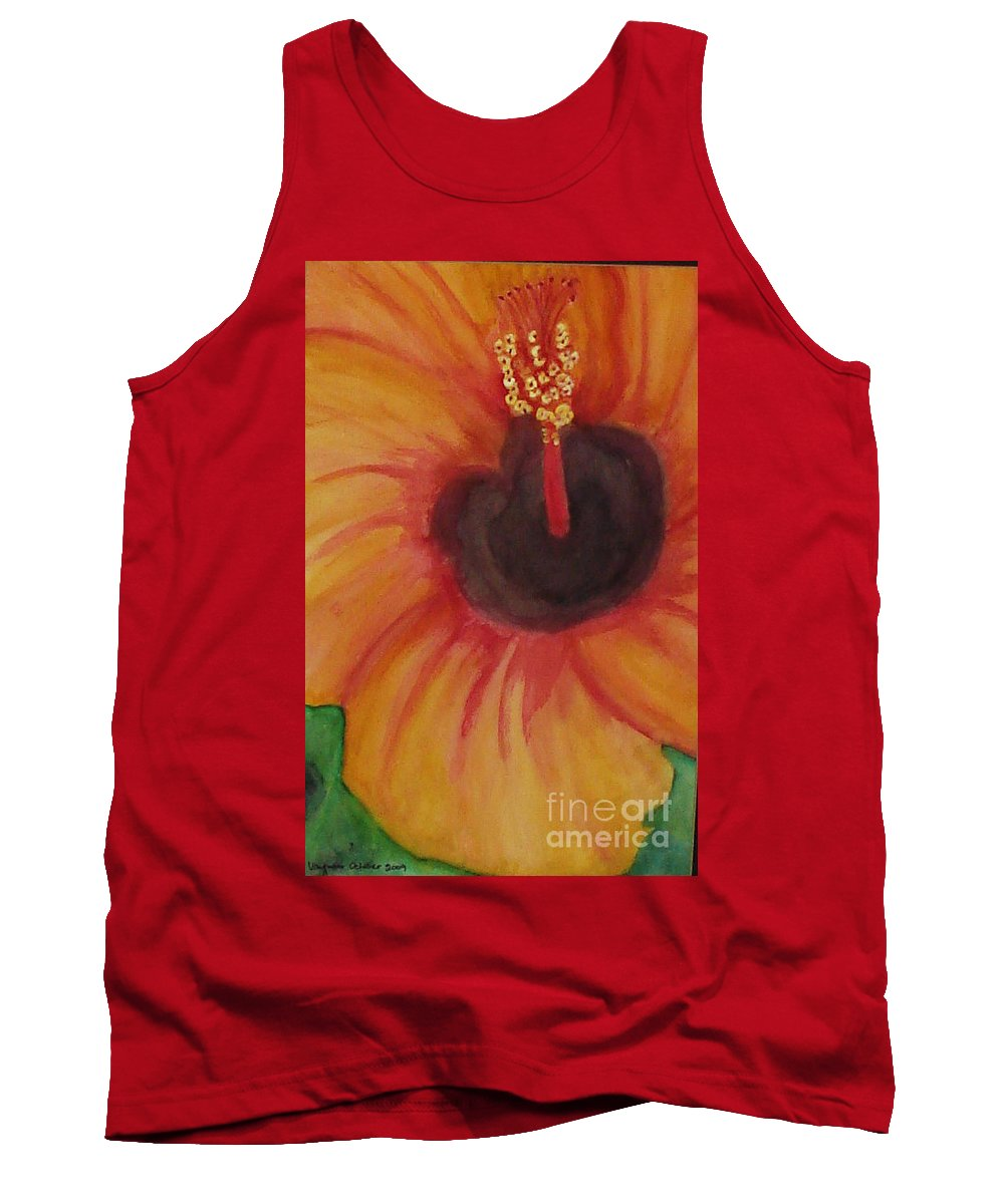 Water Color Flower Tank Top featuring the painting Passion Flower by Yael VanGruber