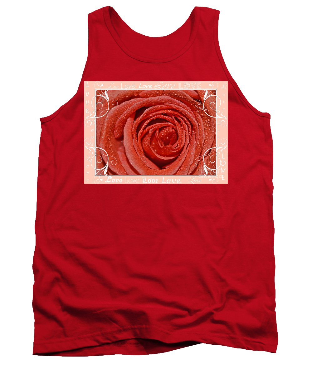 Nature Tank Top featuring the photograph Peach Love Rose by Debbie Portwood