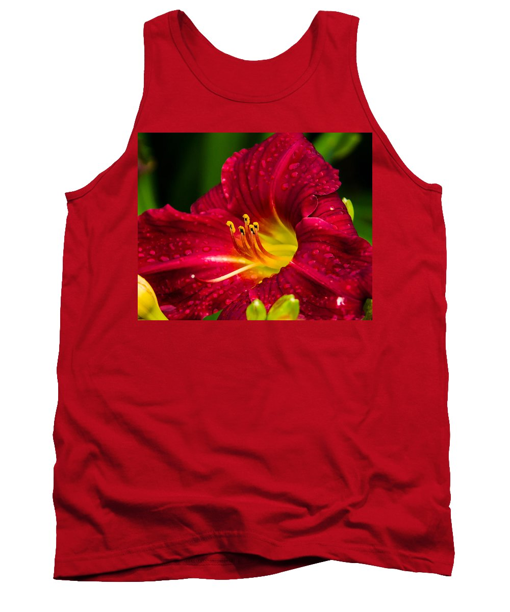 Red Tank Top featuring the photograph Peek A Boo by Shari Brase-Smith