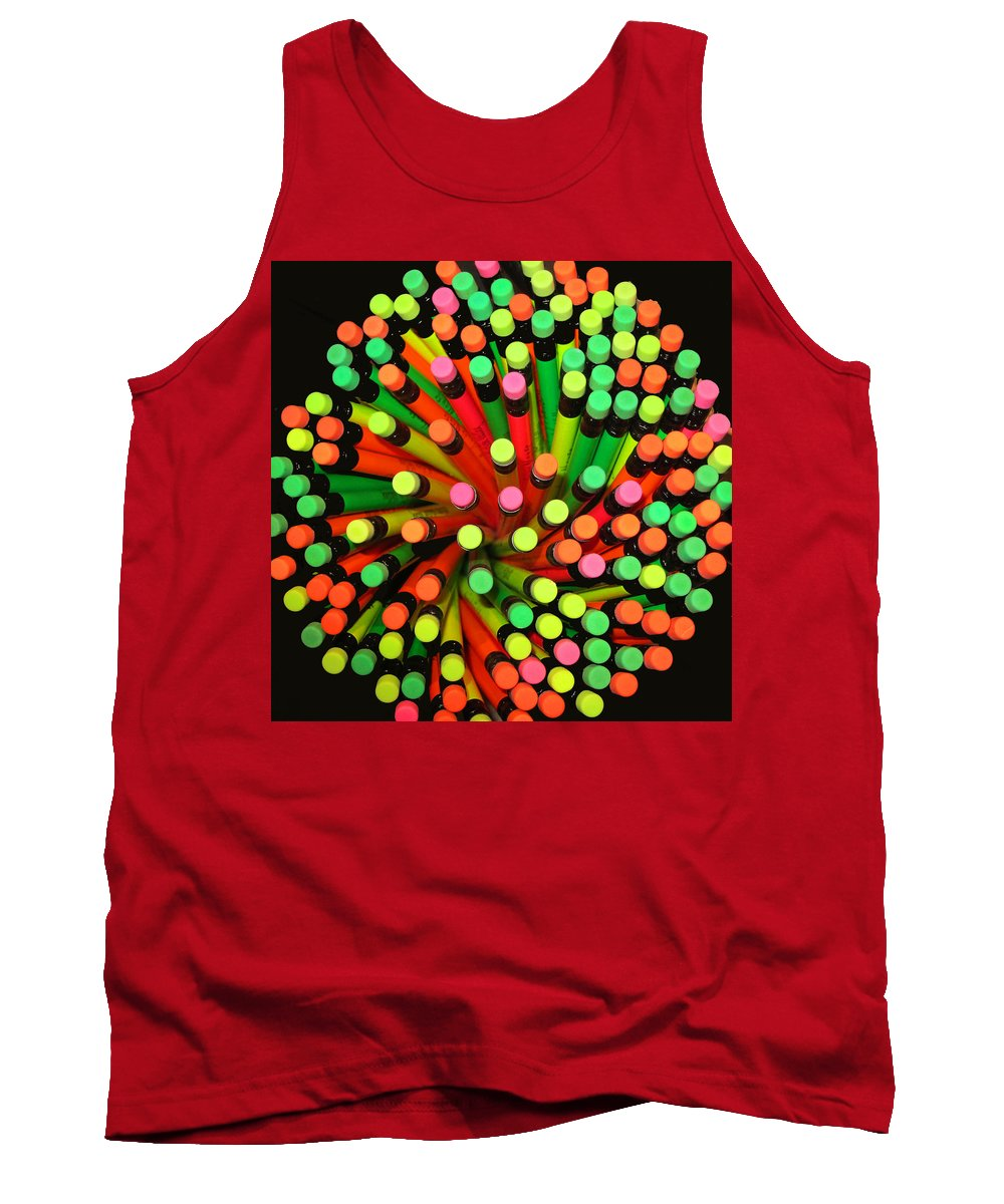 Color Tank Top featuring the photograph Pencil Blossom by Rick Locke