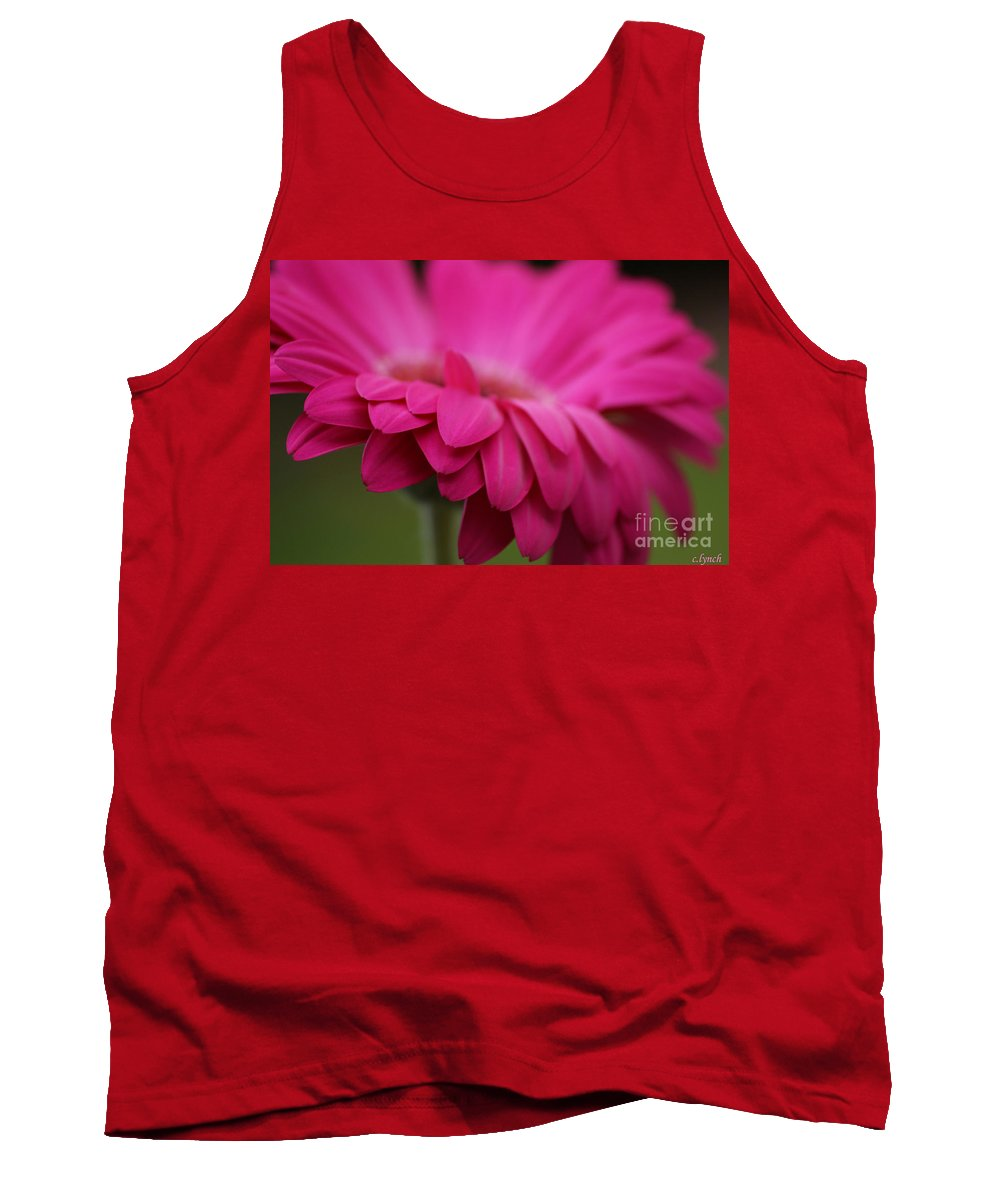 Pink Tank Top featuring the photograph Petals Pink by Carol Lynch