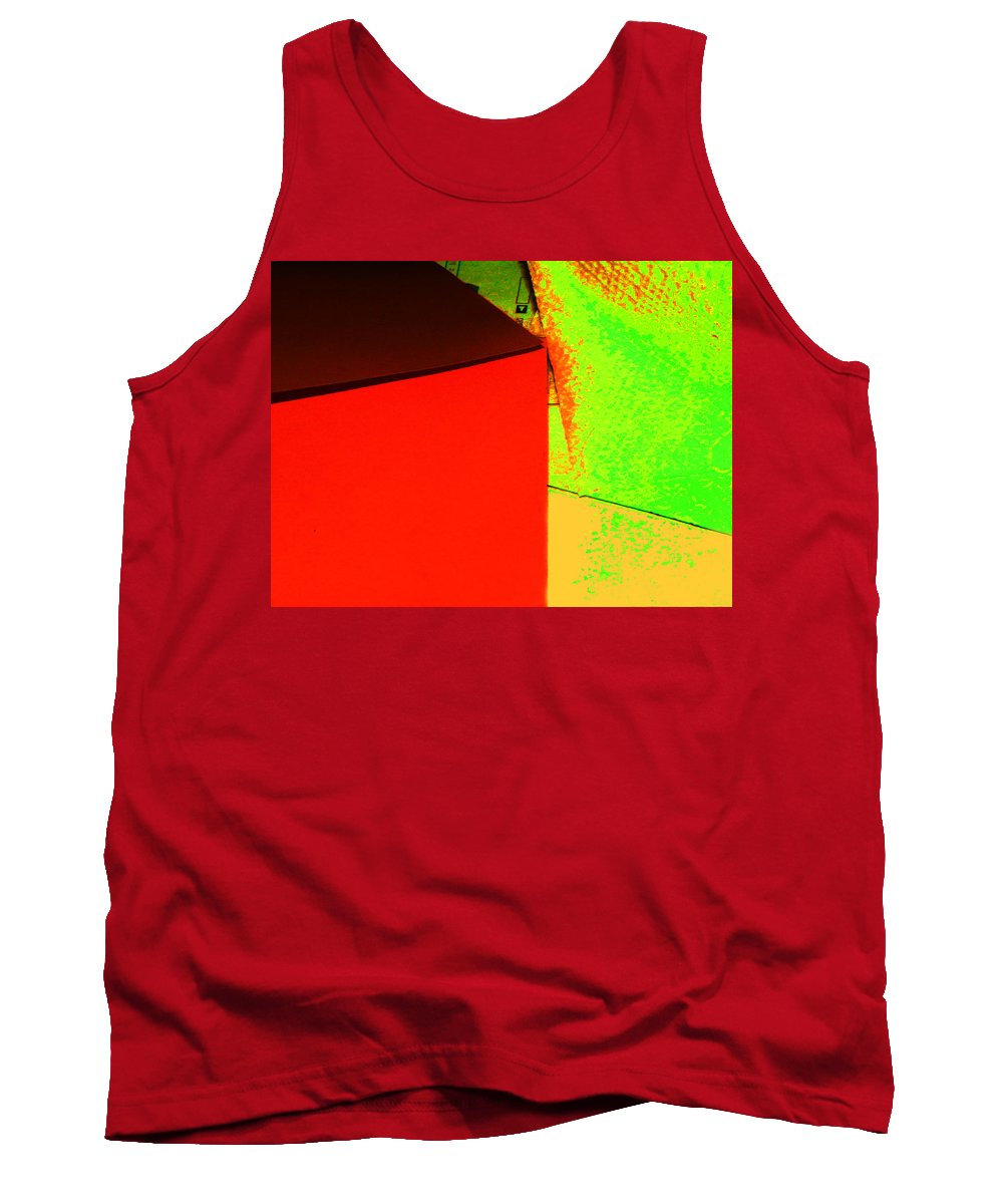 Abstract Tank Top featuring the photograph Photo Sketch Abstract 4 - The Paper Series by Lenore Senior