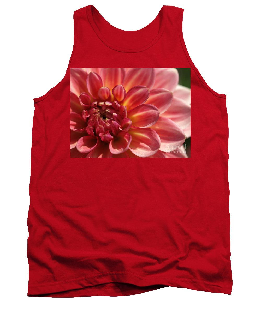 Pink Tank Top featuring the photograph Pink Dahlia by Jacklyn Duryea Fraizer