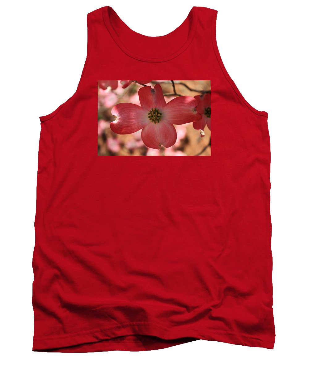 Reid Callaway Crown Of Thorns Tank Top featuring the photograph Crown Of Thorns Pink Dogwood At Easter 8 by Reid Callaway