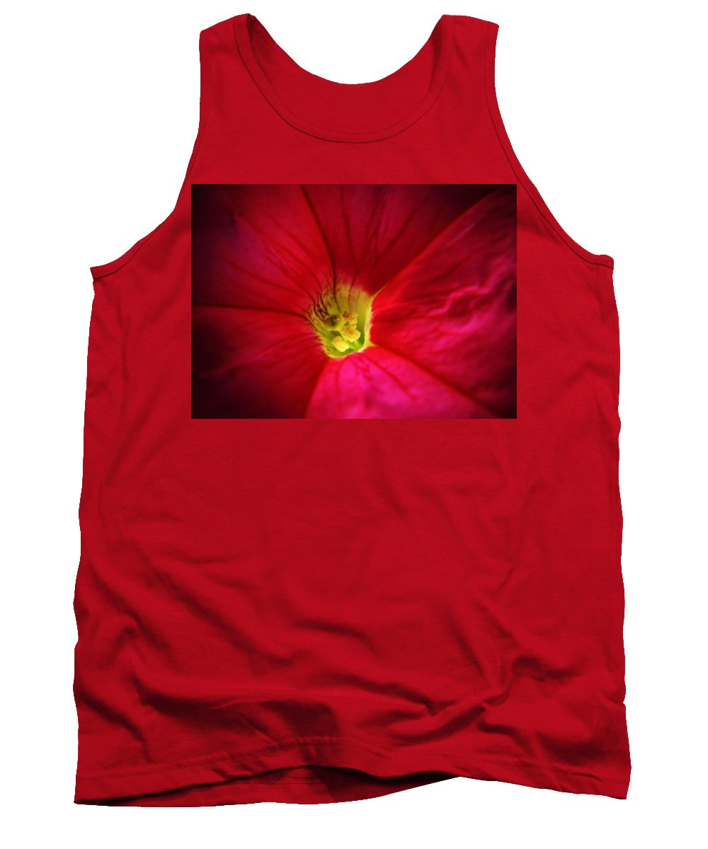 Petunia Tank Top featuring the photograph Pink Petunia by Chris Berry