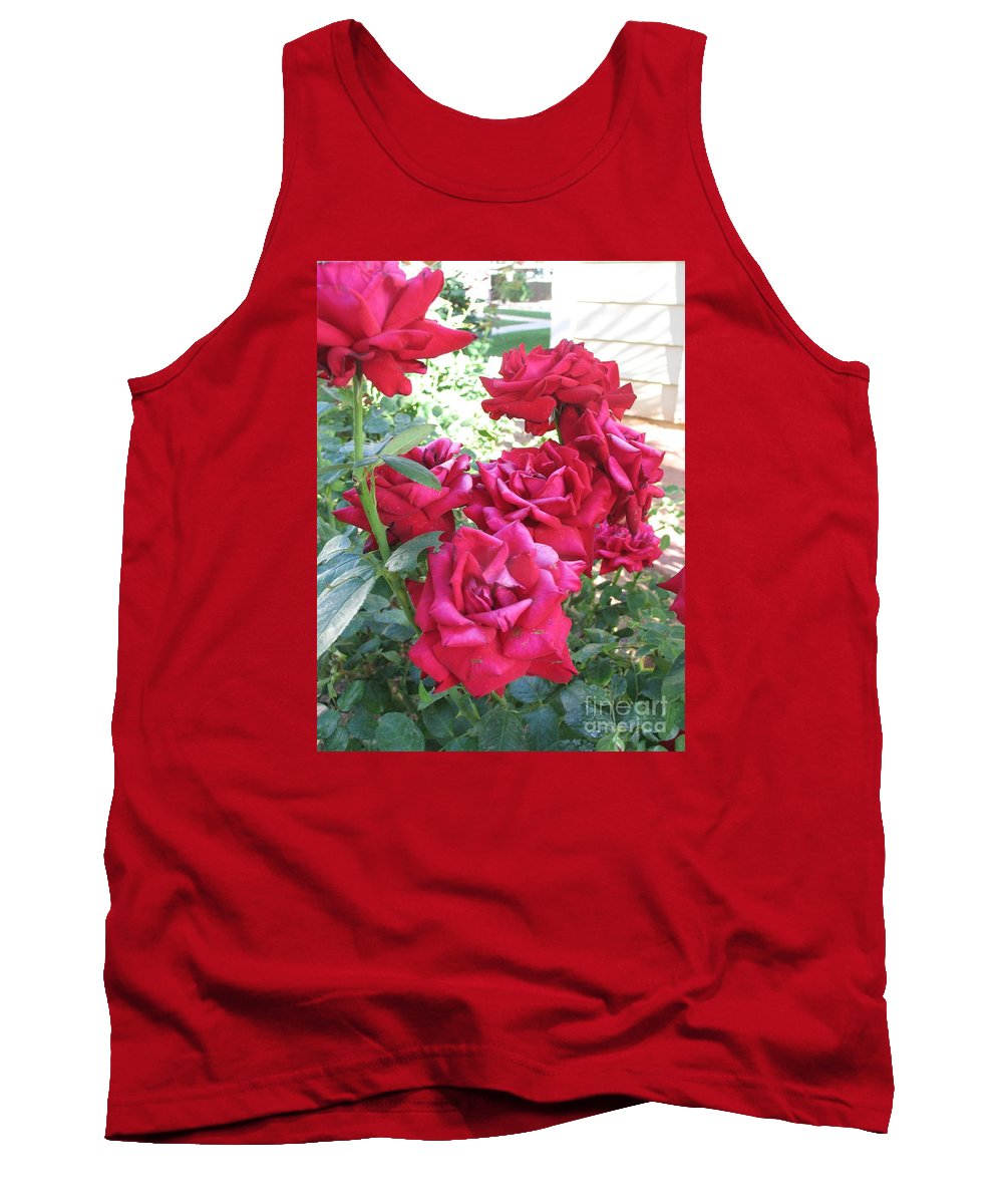 Photography Tank Top featuring the photograph Pink Roses by Chrisann Ellis