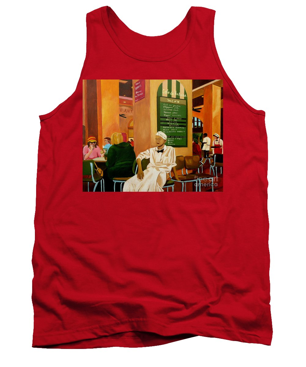 Cafe Tank Top featuring the painting Please Be Seated by Anthony Dunphy