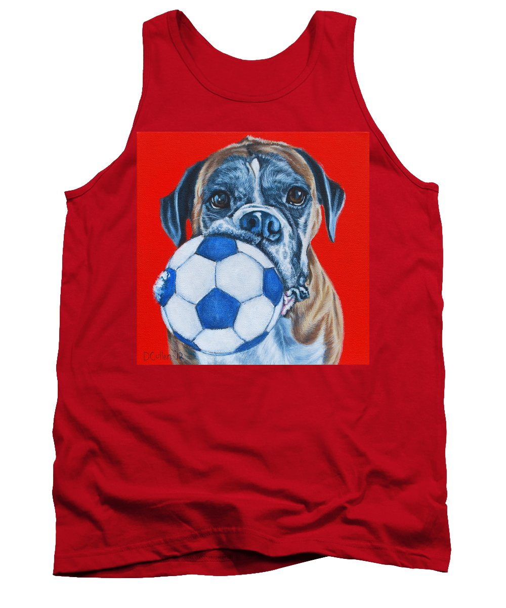 Boxer Dog Portrait Tank Top featuring the painting Polly by Deborah Cullen