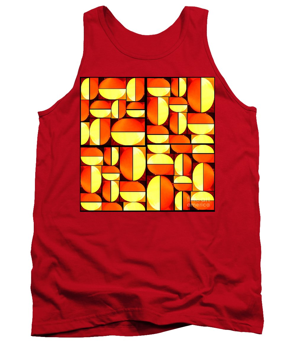 Abstract Tank Top featuring the digital art Pop by Francis Couchi Dit Diodore