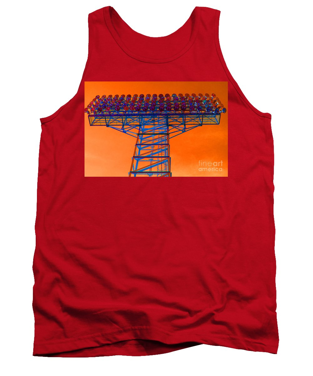 Apocalypse Tank Top featuring the photograph Post Apocalyptic Light Tower by Ray Konopaske