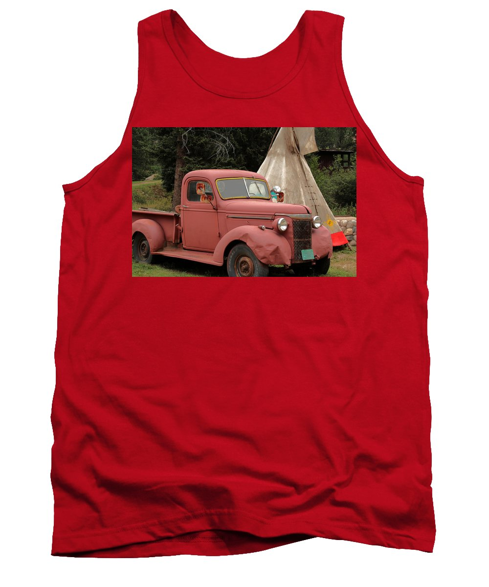 Truck Tank Top featuring the photograph Postcard From Yesterday by Lynn Sprowl