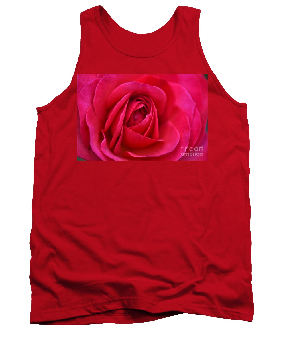Rose Tank Top featuring the photograph Pretty Pink by Judy Wolinsky