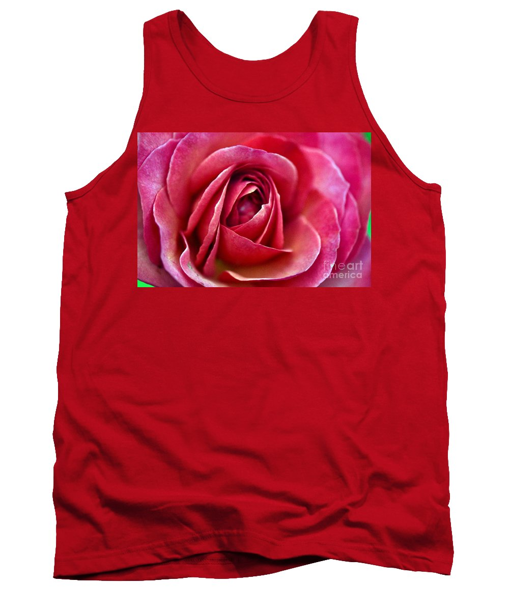 Rose Tank Top featuring the photograph Pretty Pink Muted by Judy Wolinsky