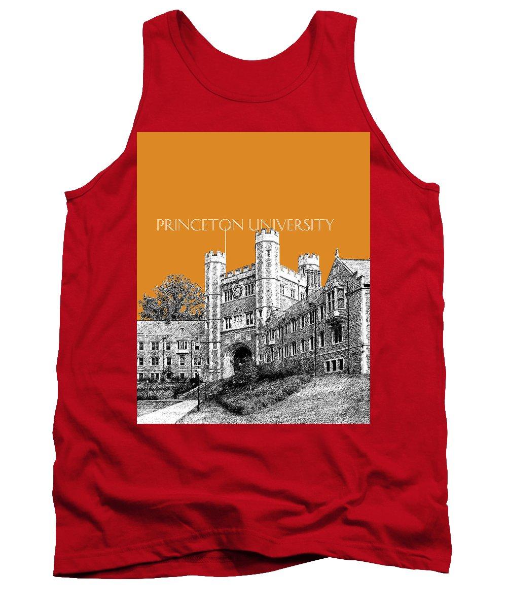 University Tank Top featuring the digital art Princeton University - Dark Orange by DB Artist