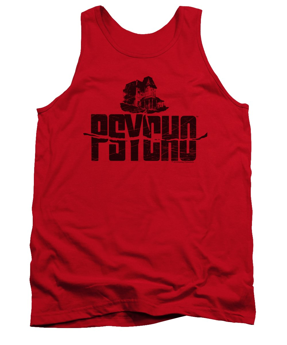 Psycho Tank Top featuring the digital art Psycho - House On The Hill by Brand A