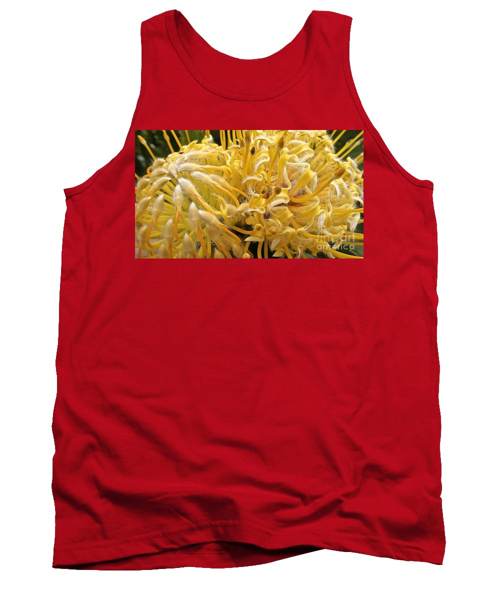 Maui Tank Top featuring the photograph Wild Hairs Pua'ala Protea by Cheryl Cutler