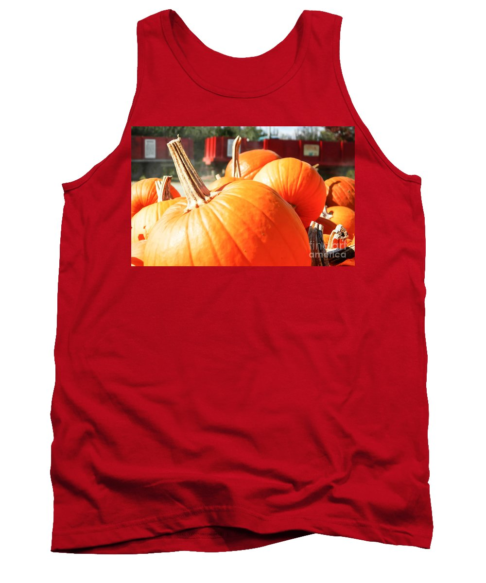 Farm Tank Top featuring the photograph Pumpkins by Andrea Anderegg