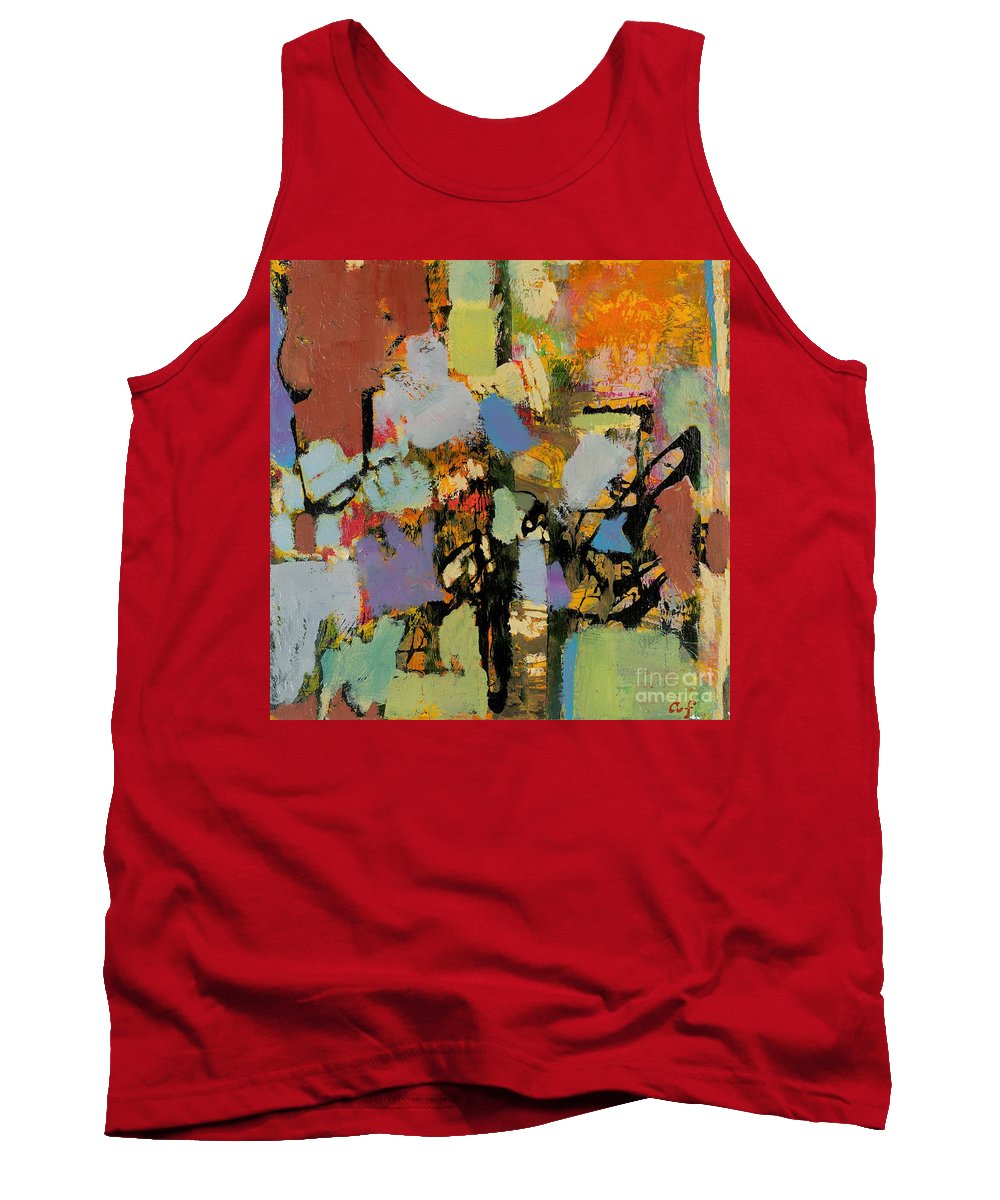 Landscape Tank Top featuring the painting Quick Racing by Allan P Friedlander
