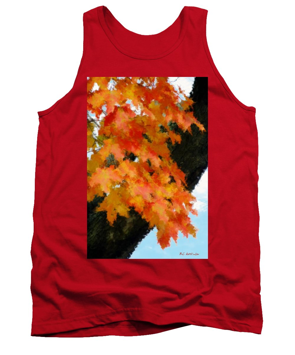 Autumn Tank Top featuring the painting Quick Take On Autumn by RC DeWinter