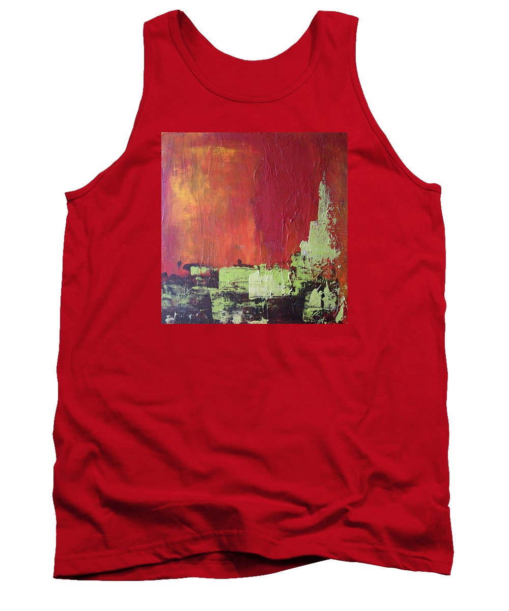 Abstract Tank Top featuring the painting Reaching Up, Abstract by Sandra Reeves