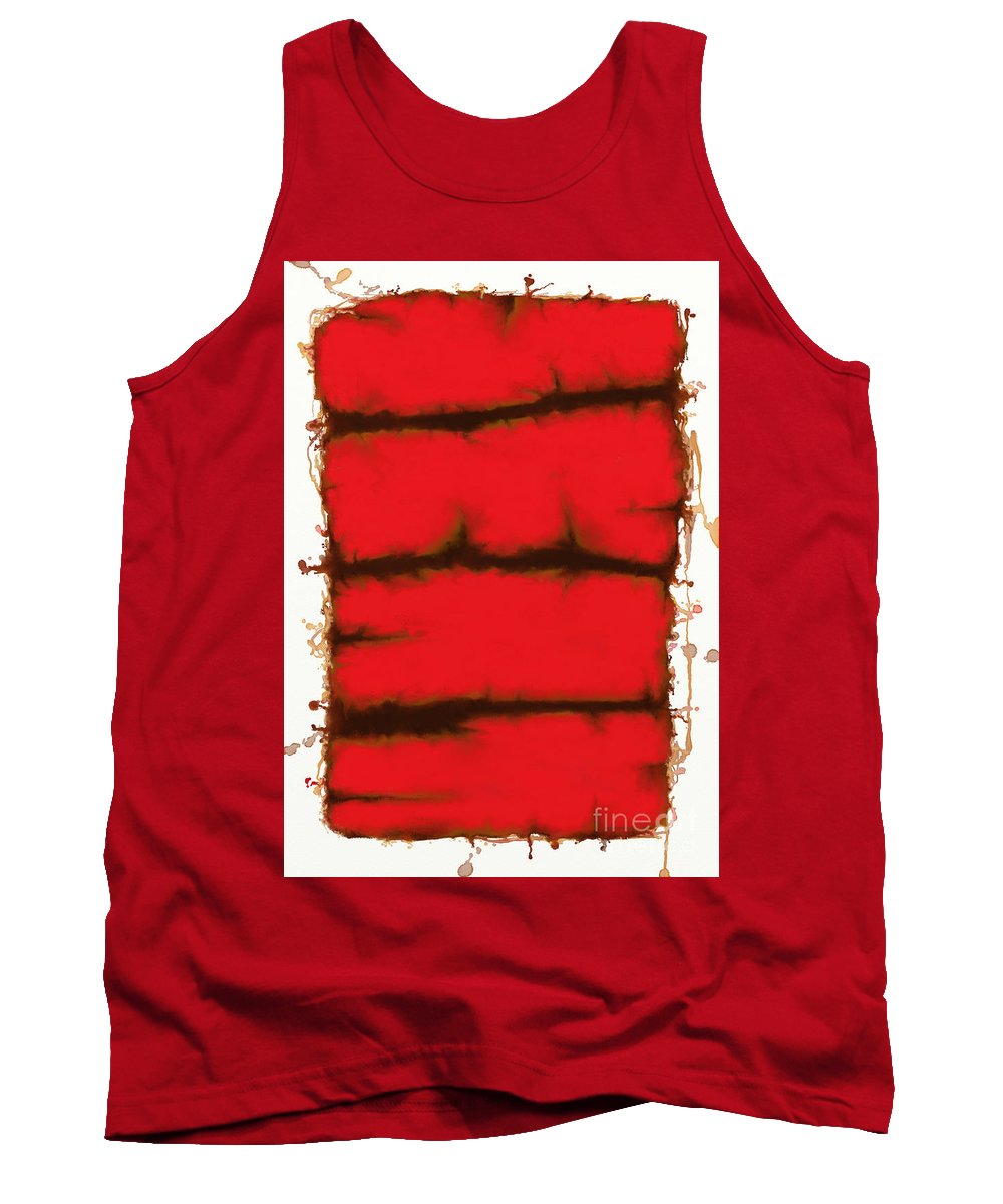 Red Tank Top featuring the digital art Red Element by Keith Mills