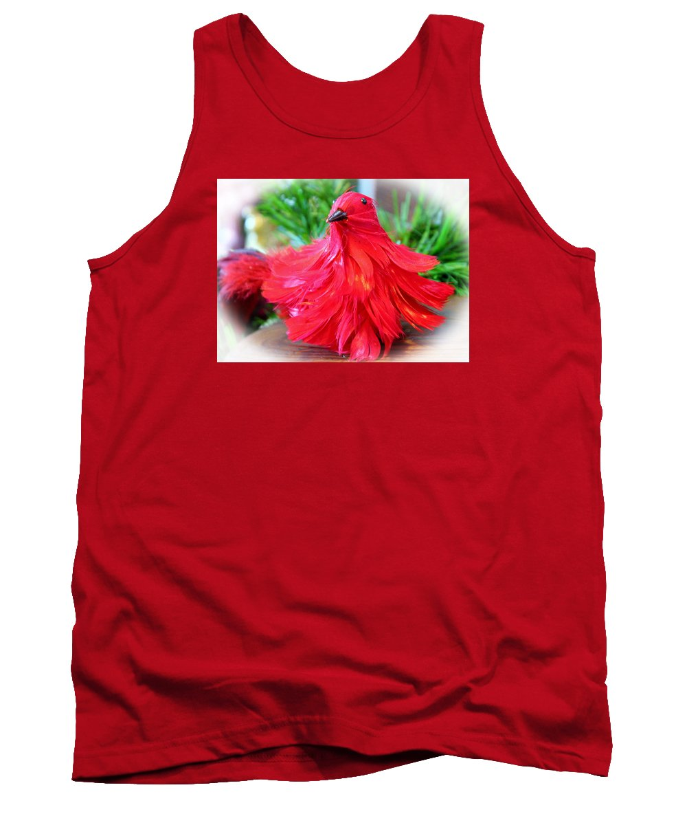 Bird Tank Top featuring the photograph Red Feathers by Cynthia Guinn
