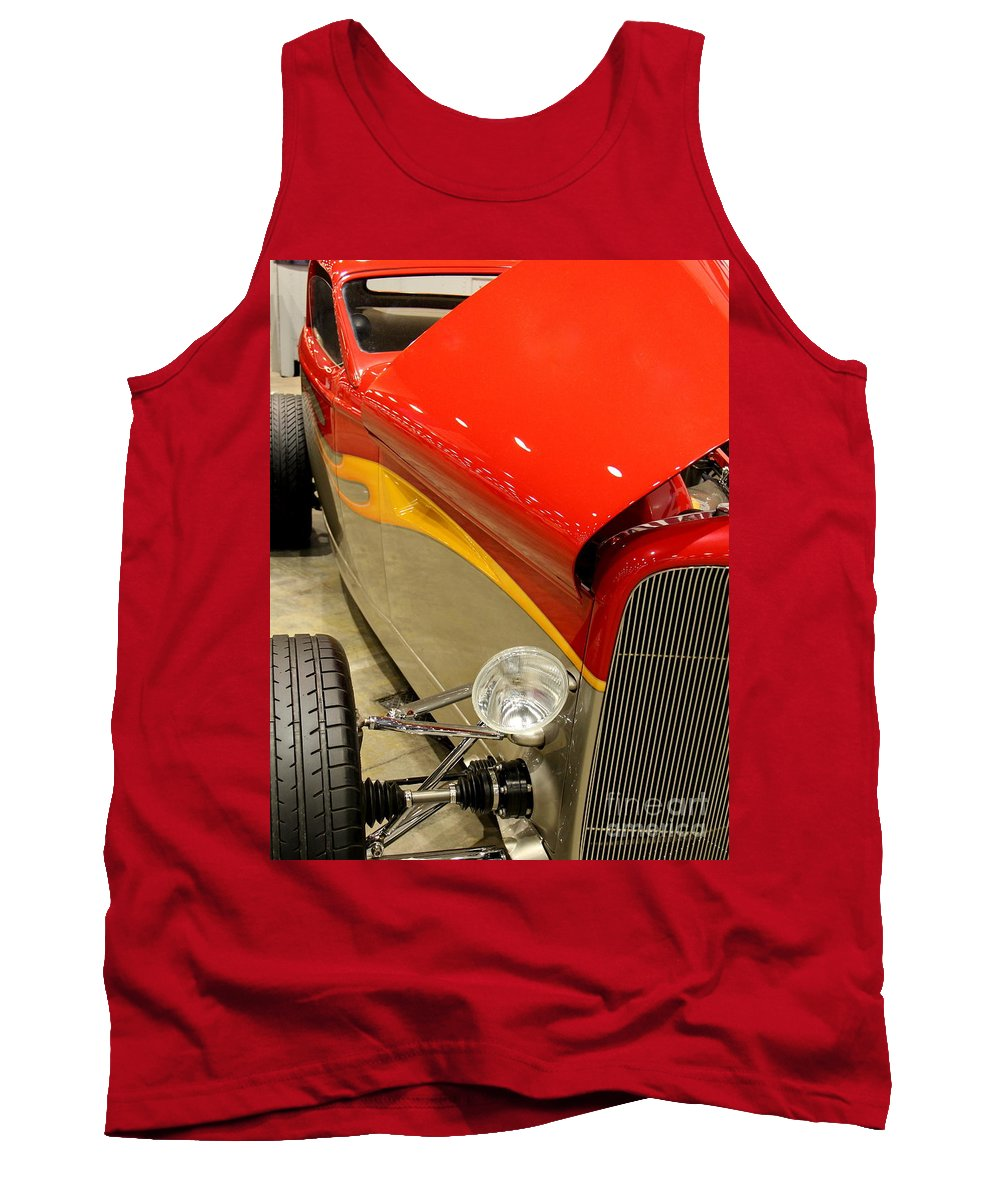 Street Cars Tank Top featuring the digital art Street Car - Red Hot Rod by Catherine Balfe