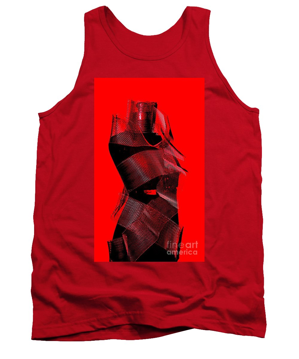 Vintage Dress Form Tank Top featuring the photograph Red by Beverly Shelby