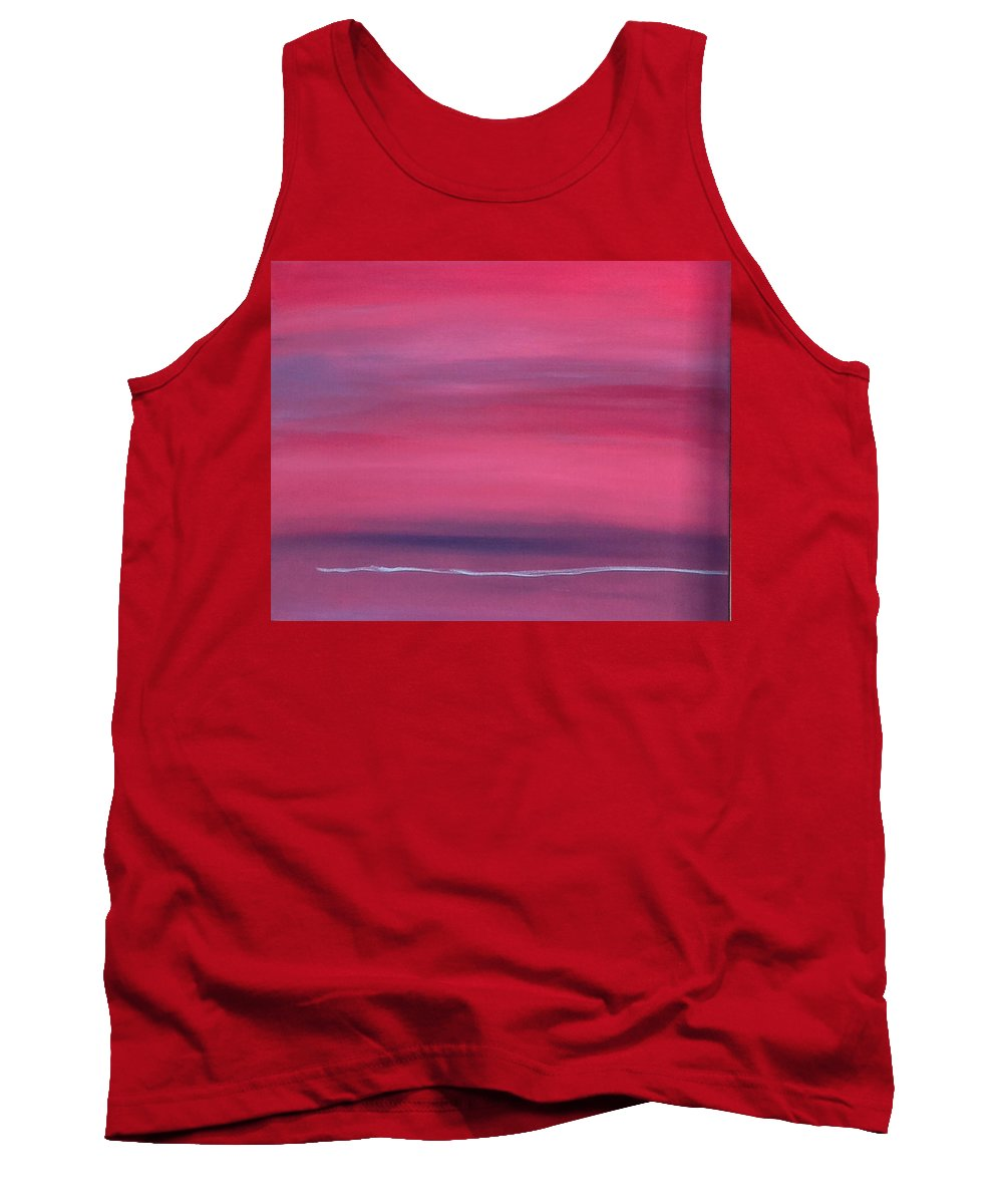 Red Tank Top featuring the painting Red Is Red by Jan Roelofs