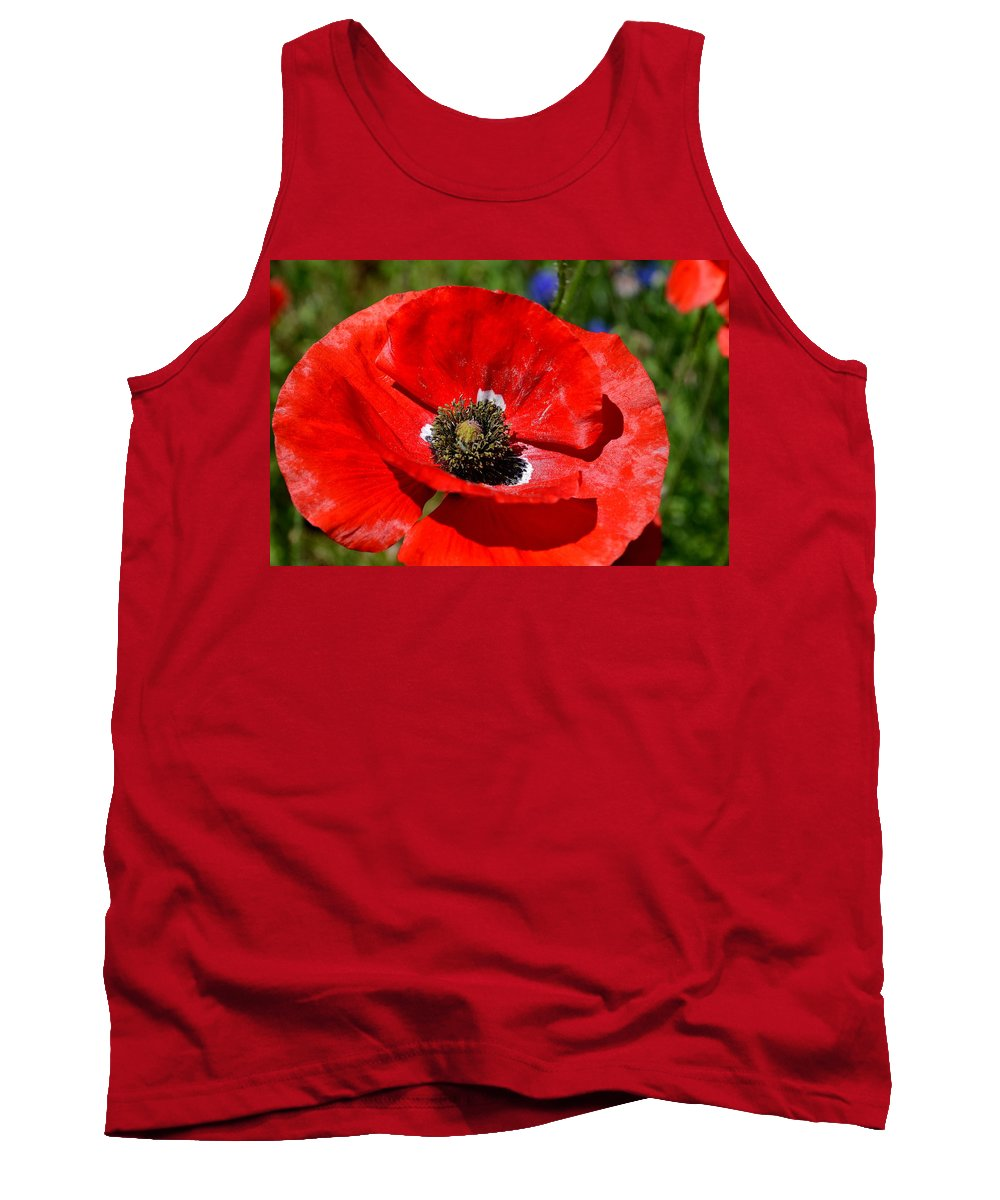Poppy Tank Top featuring the photograph Red Poppy by Katy Hawk