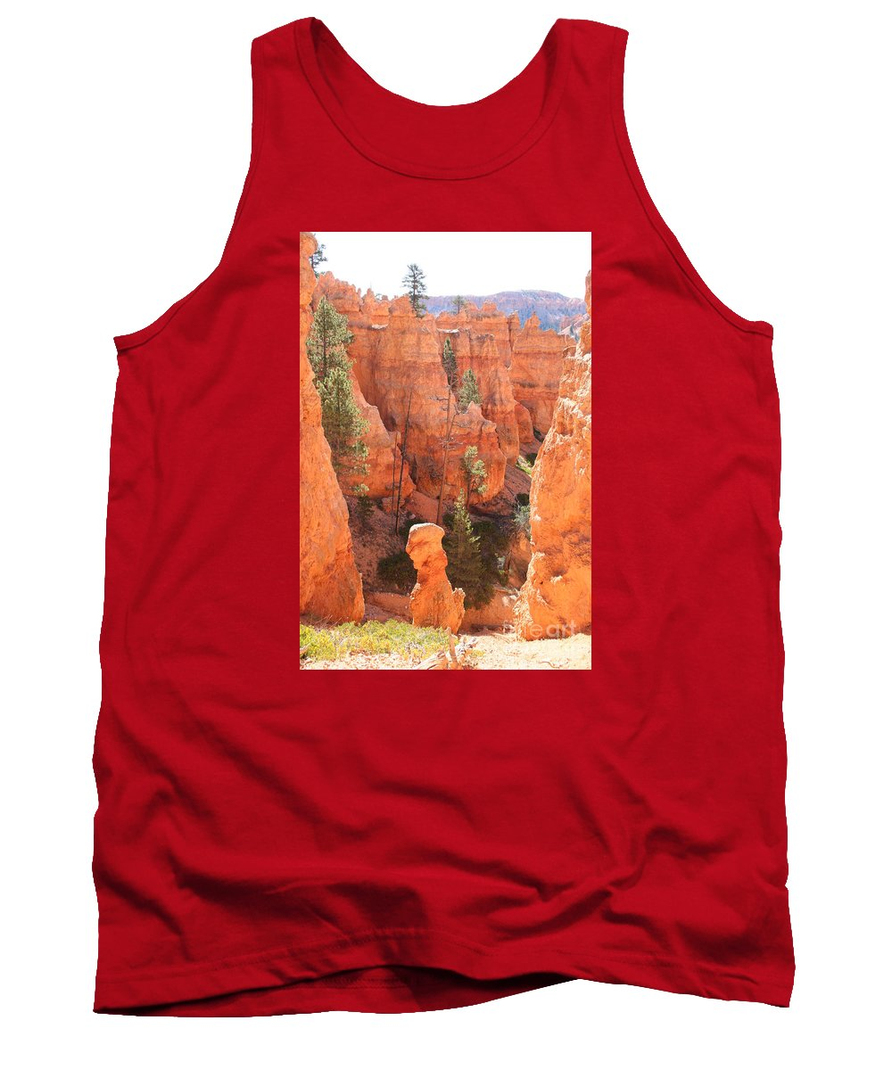 Canyon Tank Top featuring the photograph Red Rocks - Bryce Canyon by Christiane Schulze Art And Photography