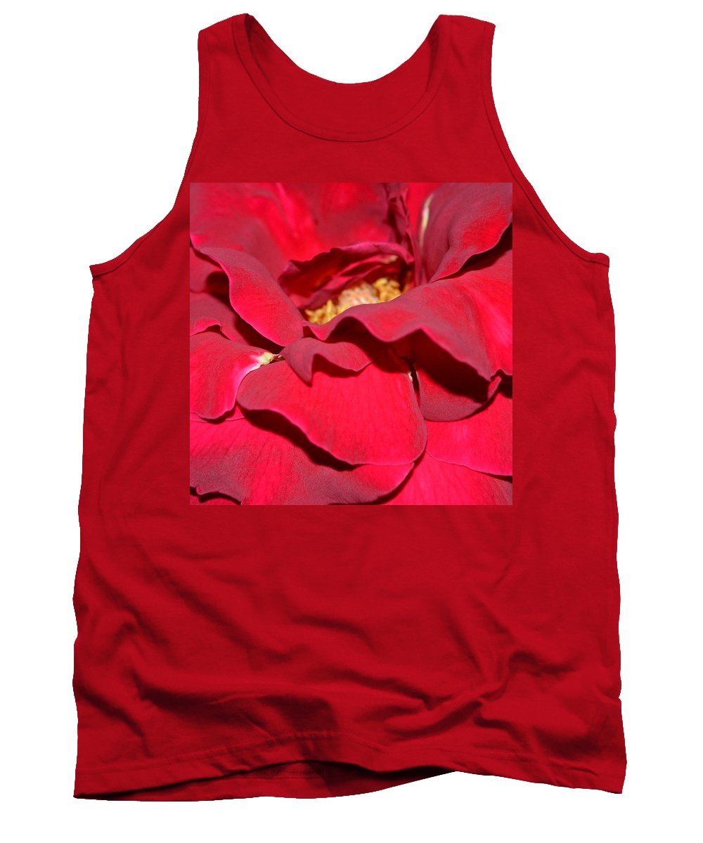 Flowers Tank Top featuring the photograph Crimson Blush 1.2 by Cheryl Miller