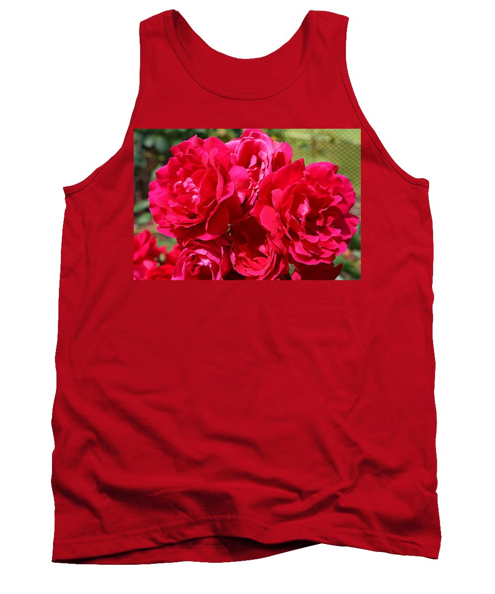 Rose Tank Top featuring the photograph Red Rose Garden Art Prints Roses by Baslee Troutman