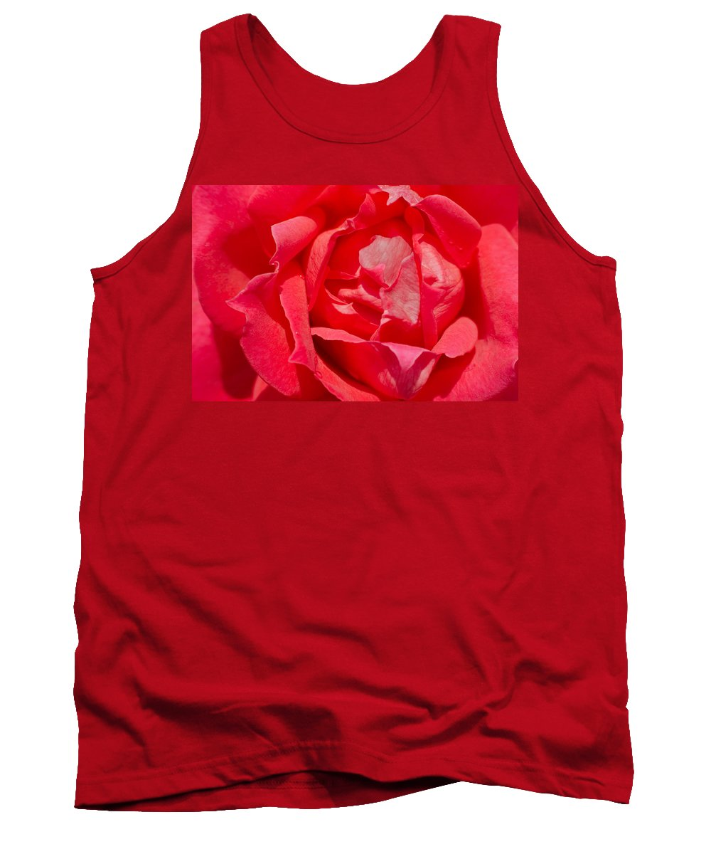 Affection Tank Top featuring the photograph Red Rose Macro by Ferenc Kosa