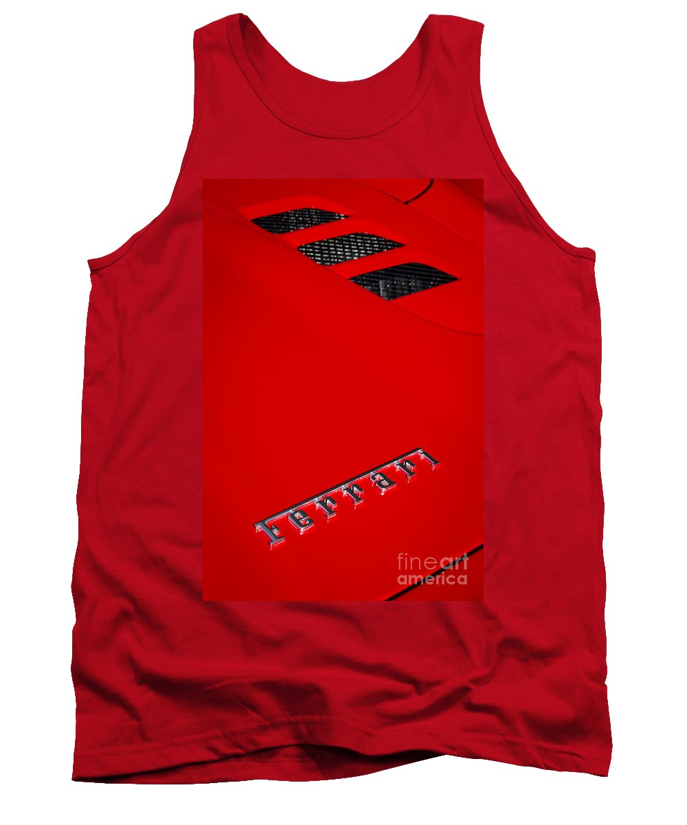 Ferrari Tank Top featuring the photograph Red Supercar by Dennis Hedberg