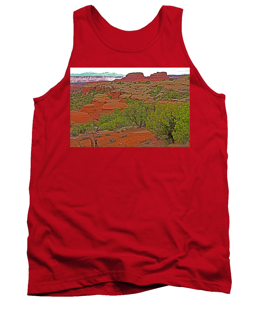 Return Trail To Elephant Hill In Needles District Of Canyonlands National Park Tank Top featuring the photograph Return Trail To Elephant Hill In Needles District Of Canyonlands National Park-utah by Ruth Hager