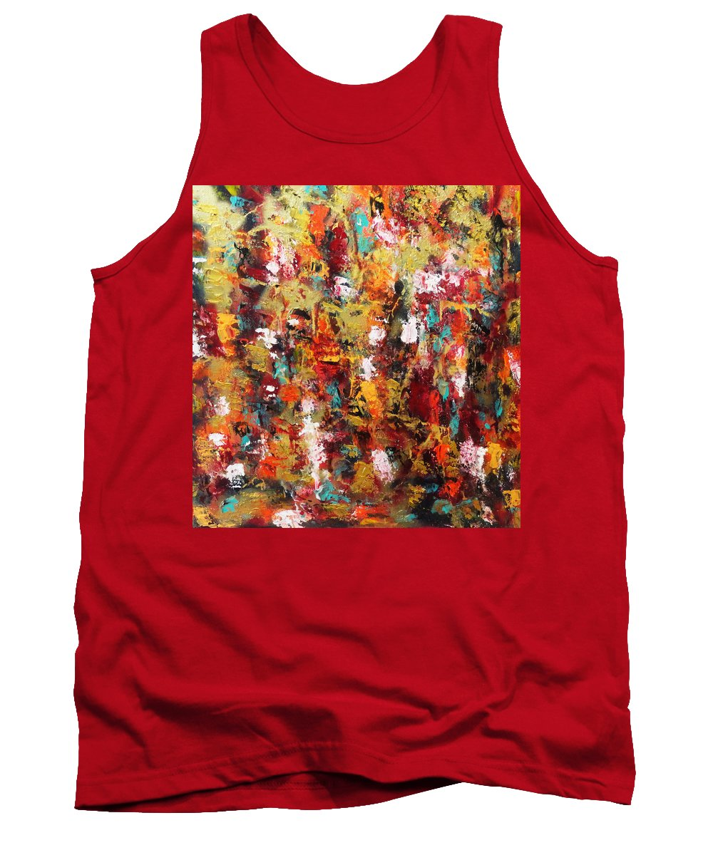 Abstract Tank Top featuring the painting Rise To A New Level by Yael VanGruber