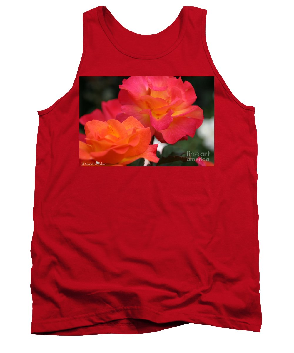 Flower Tank Top featuring the photograph Rose Glow by Susan Herber