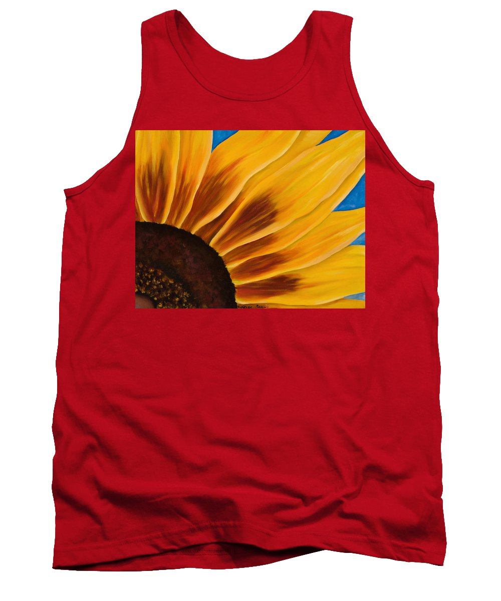 Flower Painting Tank Top featuring the painting Rubeckia by Tessa Barsic