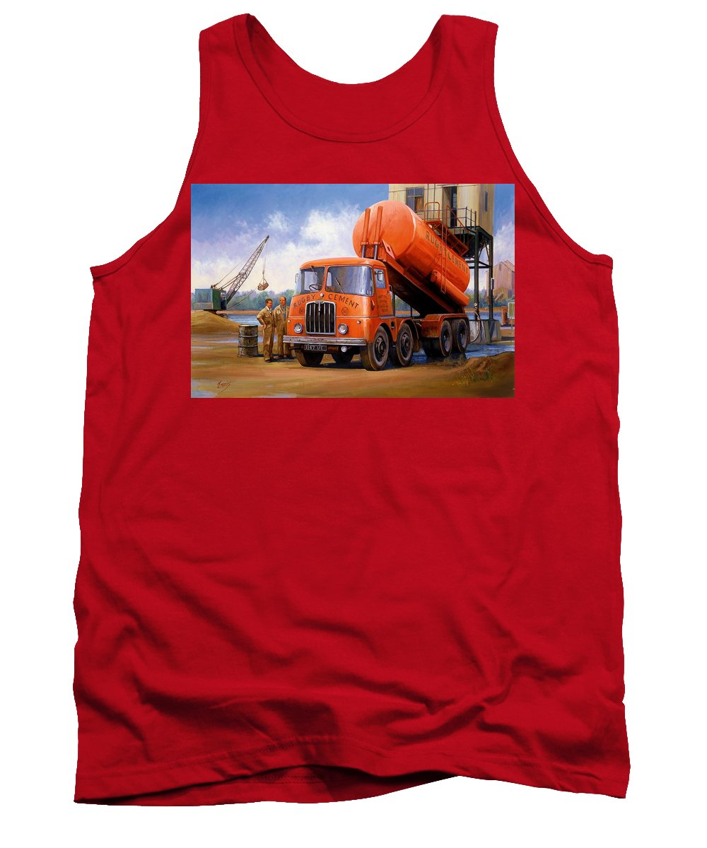 Thornycroft Tank Top featuring the painting Rugby Cement Thornycroft. by Mike Jeffries