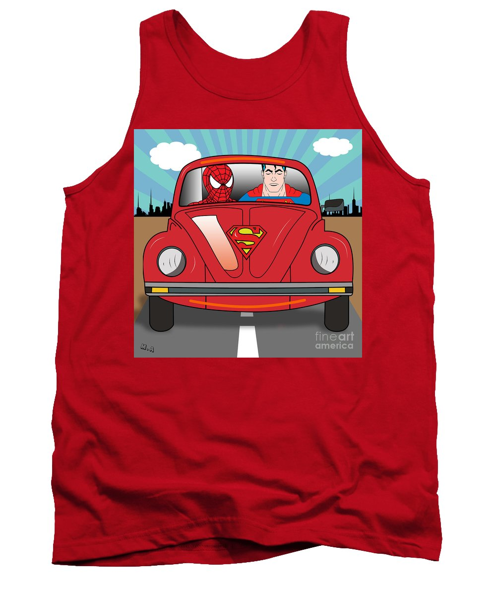 Pop Culture Tank Top featuring the photograph Running Away by Mark Ashkenazi