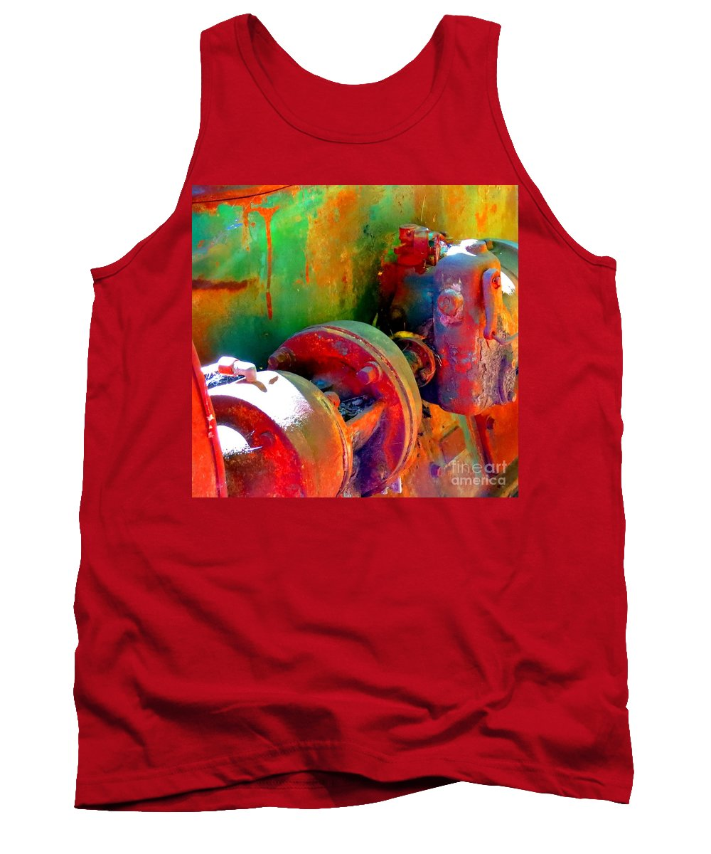 Vintage Tank Top featuring the photograph Rusted Glory 4 by Desiree Paquette
